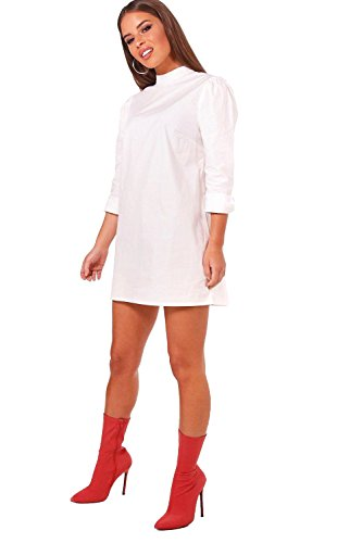 YourPrimeOutlet Womens Petite Laura Admiral Style Woven Shift Dress