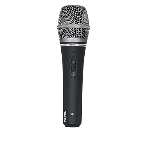 PROEL DM220 Microfono Cardioide dinamico con switch on/off x canto, karaoke, ecc