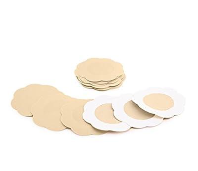 Fasionato 10 Pair Nippleless Cover Premium Adhesive Breast Petal Flower Shaped Nipple cover Concealer Pads