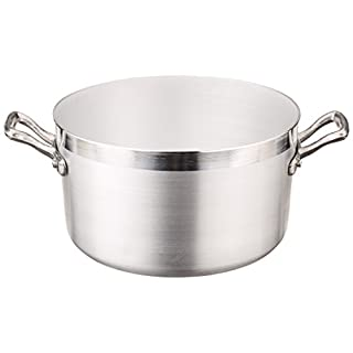 Pentole Agnelli Family Cooking Aluminium Saucepot with 2 Handles, 2.64 Litre, Silver