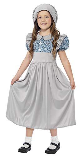 Smiffys Kinder Viktorianisches Schulmädchen Kostüm, Kleid und Hut, Größe: M, 27532