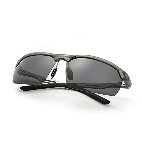 YJDZHSQ Sonnenbrillen Die Retro Mode-Aluminiumrahmen-Halbrahmen-Sonnenbrille-Männer Der Neuen Männer, Die Gläser Ultraviolettes Beweis-Schwarzes Fährt