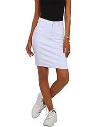 91170444e1f7 Nina Carter Gonna Jeans Donna Minigonna Elasticizzata Denim colorato Taglia  38 a 46