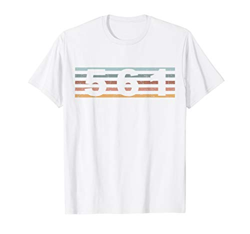 561 Vorwahl Retro Florida Boca Raton T-Shirt