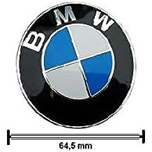 Original de BMW Tapa de buje Centro orificio Tapa con Borde Cromado