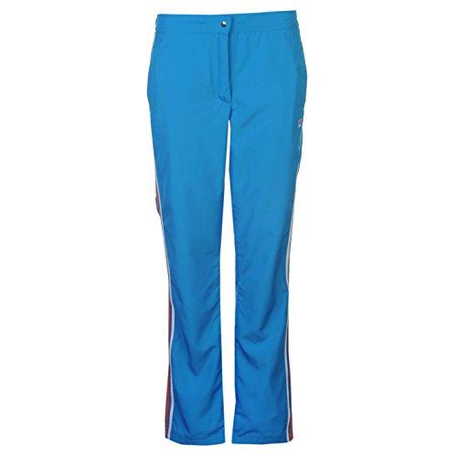 Fila Damen Perla Warm Up Tennis Hose Sporthose Trainingshose Mesh Gefuettert Blau 14 (L) -