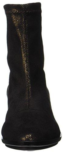 NR RAPISARDI Damen E702 Kurzschaft Stiefel Schwarz (Black Bronze Star Dust)