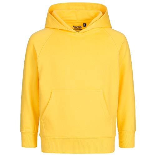 Purzelbaum Kinder Kapuzenpullover für Mädchen & Jungen | 100% Bio Baumwolle | Fairtrade & GOTS Zertifiziert | Hoodie Pullover in Gr. 92-158, 6 Farben (Gelb, 92-98)