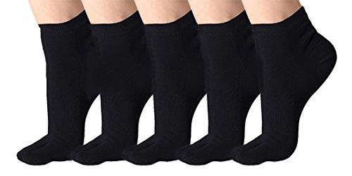Klassisches weiches elastisches Flipflop-Tabi-Zehe-Socken 5 Paare Mehrfarbig (39-42, #D)