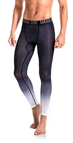 saracacore Männer Jungen Herren Lange 3/4 Unterhose Strumpfhose Unterwäsche Fussball Fahrrad Kompressions Fitness Sports Leggings(schwatzpattern, M)