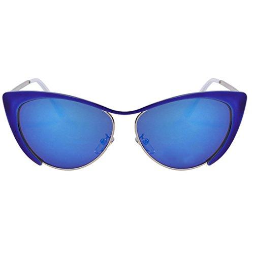 Zxyan œil de chat Patry/Lady/Anti-ultraviolet/lunettes de soleil Demi Cadre de couleur vive, C05