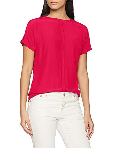 Comma CI Damen 88.902.32.3317 T-Shirt, per Pack Rosa (Dark pink 4476), 42 (Herstellergröße: 42)