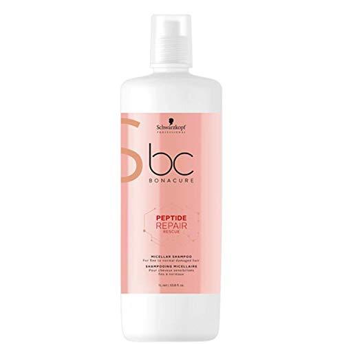 Schwarzkopf Professional BONACURE Peptide Repair Rescue Micellar Shampoo, 1 l