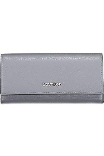Calvin Klein Frame Large Trifold Steel Greystone - Kleine Tri-fold