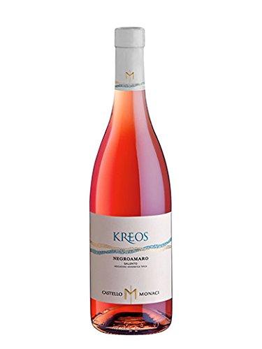 Kreos negroamaro rosato salento igt - castello monaci - vino rosato fermo 2018 - bottiglia 750 ml