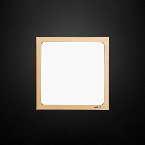 LED-Deckenfliesenlichter 9w Super Bright Square Flush Panel Lights Suspended Vertieftes Kaltes Weiß 6000K IP44 (300 X 300 Mm) Für Büro-Küchen-Badezimmer-Armaturen (Farbe : Gold) -