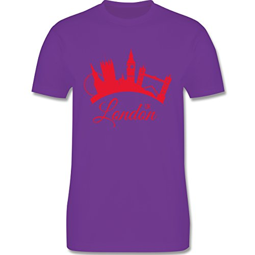 Skyline - Skyline London UK England - Herren Premium T-Shirt Lila