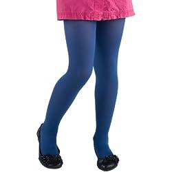 Las niñas medias microfibra 40Amplia Gama De Colores Tamaños 3años-13años... azul azul oscuro 6-7 Años