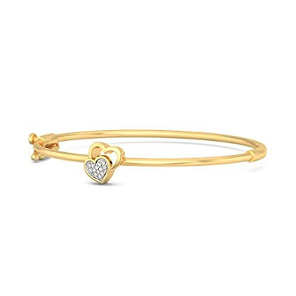 BlueStone 14k (585) Yellow Gold and Diamond Aaralyn Oval Bangle