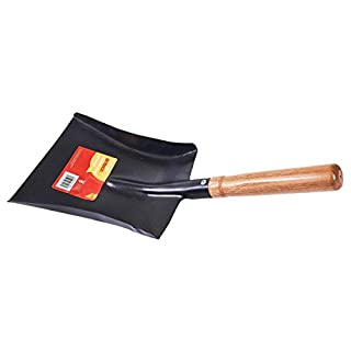Flostream Ltd U1310 Metal Coal Shovel with Wooden Handle, Clear