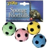 Interpet Pet Love Sponge Footballs Cat Balls Toy by Pet Love