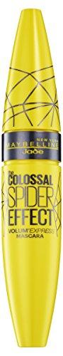 Maybelline Volum\' Express The Colossal Spider Effect Mascara, schwarze Wimperntusche, für mega Wimpernvolumen, mit dem angesagten Spider-Effekt, hochpigmentierte Liquid Latex-Formel, 9,5 ml