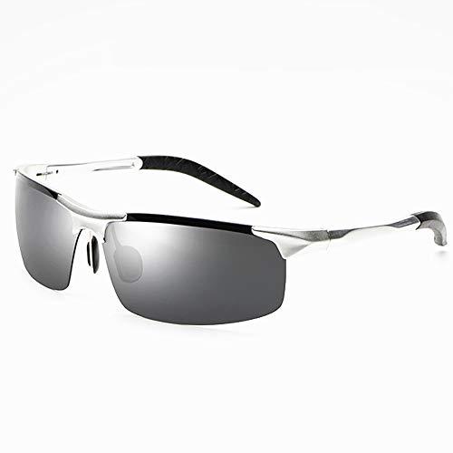 QYEND Mode polarisierten Sonnenbrillen Herren Aluminium Magnesium Sport Sonnenbrillen Sportfahrer Driving Brille Brille,C