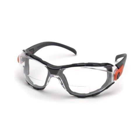 Elvex go-spec Bifokal Schutzbrille mit Klar Anti-Nebel Linse + 1,5Dioptrie