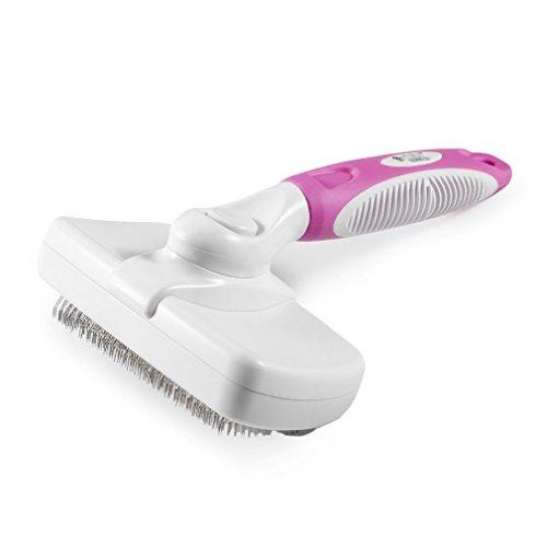 ICOCO Sicher Pet Zupfbürste Fellpflege Bürste Pet Massage Kamm für Hunde & Katzen mit langem Haar (Pink)