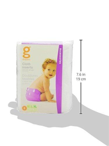 gNappies Gcloth Stoffeinlagen, Größe M – XL,  6er Pack (1 x 6 Stück) - 5