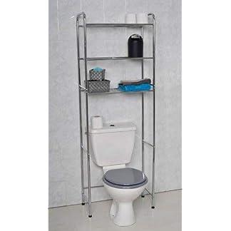 31y0J3hdgWL. SS324  - Mueble para baño WC de metal cromado con 3 estanterías