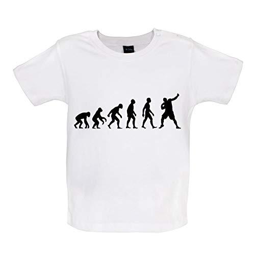 Baby T-Shirt - Evolution of Man - Kugelstoßen - 8 Farben - 3 bis 24 Monate - Weiß - 18-24 Monate -