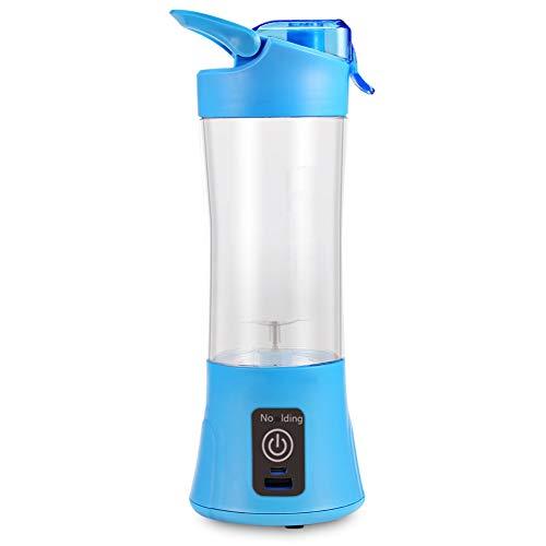 Ocean Blue Cup (CSLFH Portable Blender Juicer Cup USB Rechargeable 400Ml Electric Automatic Vegetable Fruit Citrus Orange Juice Maker Cup Mixer Bottle,Ocean Blue)
