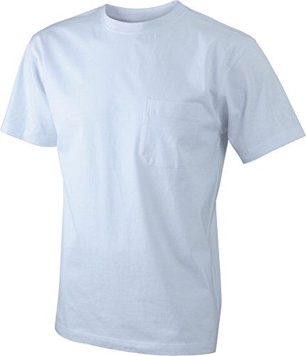 JAMES & NICHOLSON T-Shirt classica con taschino White