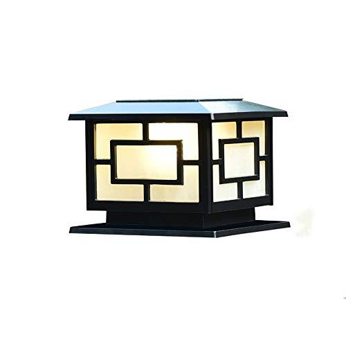 Pumnple Viktorianische Solar Laterne Post Licht im Freien wasserdichte einfache Villa Garten Solar Säule Laterne for Deck Zaun Säule Tür Balkon Außenwand Tisch LED-Beleuchtung -
