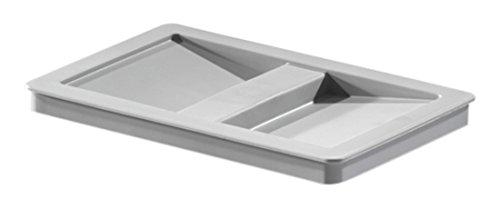 Hailo 1068589 Abfallsammler Behälterdeckel mit Griffmulde Kunststoff grau Biodeckel