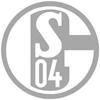 FC Schalke 04 Aufkleber Silber