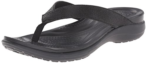 Crocs Capri V Shimmer Flip 202845 6 Uk 001 Black