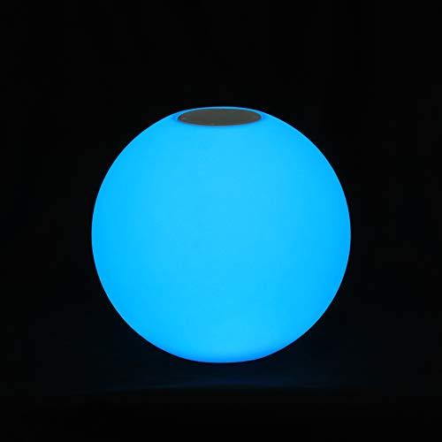 Lumisky Bobby esfera luminosa de jardín, multicolor inalámbrico sobre batería con altavoz Bluetooth Carry Play LED RGB 40cm, polietileno rotomoulé, blanco, 30x 30x H30