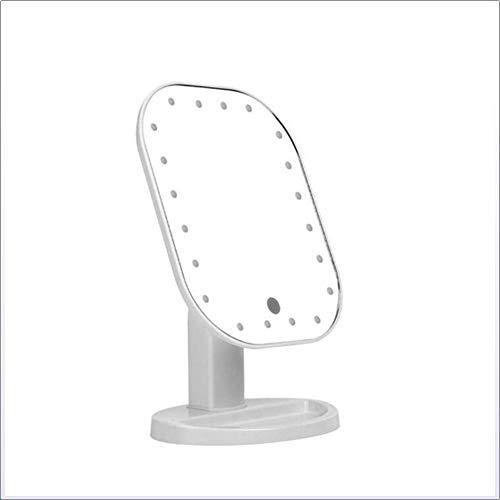 Carmel Spiegel (Carmel Beleuchteter Kosmetikspiegel - 20 Glühbirnen Tischplatte Vanity Schminkspiegel mit 4 x Batterien - Beleuchteter Schminkspiegel Kosmetikspiegel für Tischplatte, Reisen, Rasieren, Grün)