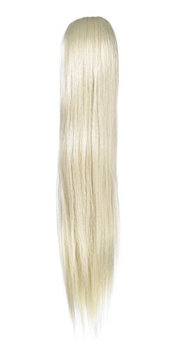 Love Hair Extensions - LHE/N/ALICE/DS/60 - Prime de Fibres Alice - Cordon Coulissant - Queue de Cheval - Couleur 60 - Blond Pur