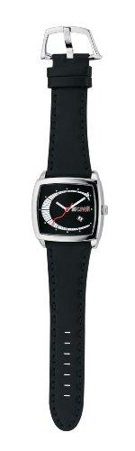 Just Cavalli - Screen - Analogue Quartz - Unisex Watch - Black Leather Strap