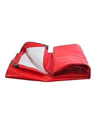 KCoob Wasserdichte Plane Sonnencreme Kunststoff Plane Schatten Tuch Auto LKW Zelt Tuch rot und weiß reversibel von Ncika - Gartenmöbel von Du und Dein Garten