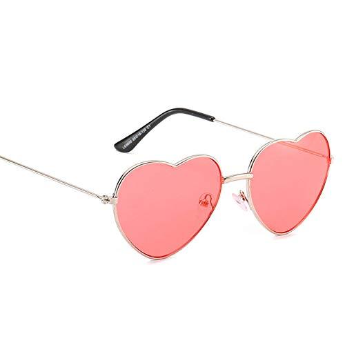 YKXIAOYU Womens Sonnenbrillen HerzföRmige Brillen Sonnenbrillen Harz Objektiv Metallrahmen Uv400 Geeignet FüR Reisen, Strand, Stadt Zu Fuß
