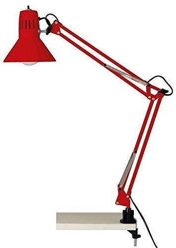 Brilliant Hobby - Lámpara mesa pinza color rojo