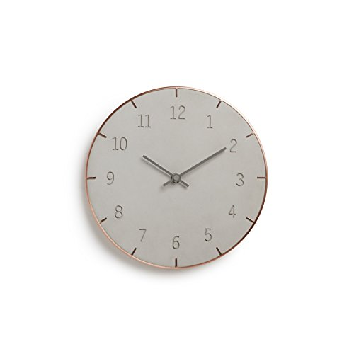 umbra-concrete-piatto-wall-clock-grey