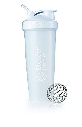 BlenderBottle Classic Loop Top Shaker Bottle, Frosted White, 32 oz by Blender Bottle (Top-workout Supplements)