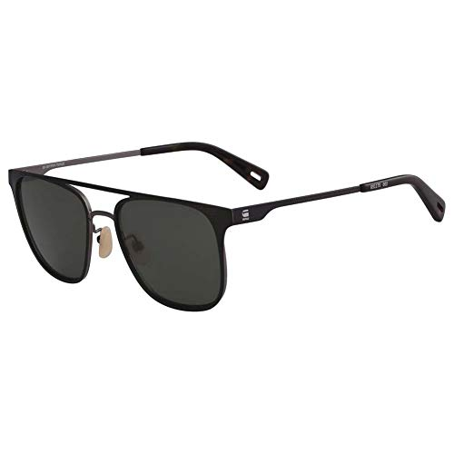 G-STAR RAW Herren Gs117S Flat Metal Gsrd Yster 002 54 Sonnenbrille, Schwarz (Black Matte),