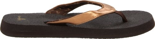 Sanuk Yoga Glam, Tongs femme Bronze