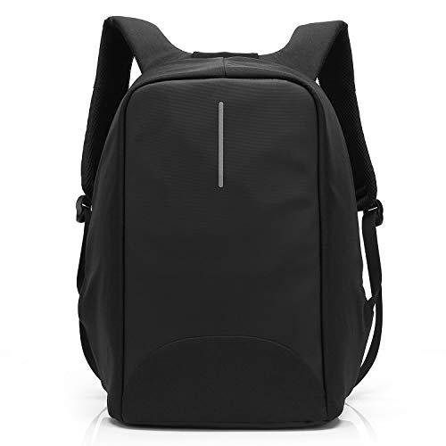 Coolbell Sac à Dos d'ordinateur Portable de 15.6 Pouces avec Port USB de Charge/Sac Anti-vol Léger de Ville/Sac à Dos Fonctionnel Knapsack Backpack/Sac à Dos Imperméable pour Hommes/Femmes (Noir)